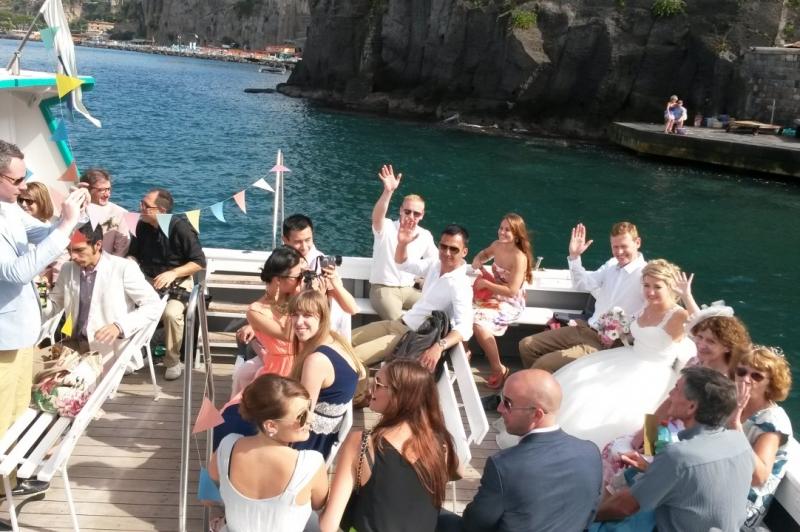 Wedding Party on board