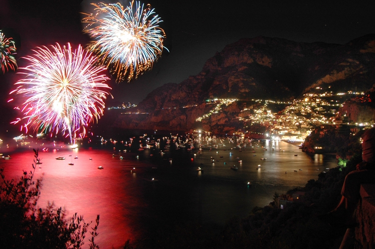 Feu d'artifice de Positano
